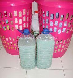 Detergente caseiro ecológico para lavar roupa: ultima receita, com produtos fáceis de adquirir.