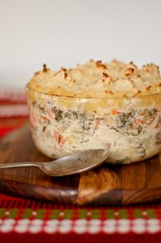 Most recipes that a grandmother, or older relative hand down are delicious. This fish pie is no exception.