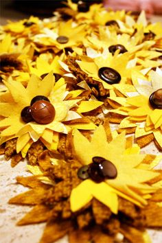 sunflower tutorial - for bowl fillers