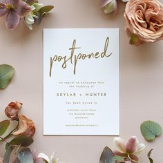 Couples working through wedding postponement can use this guide to event change cards with gorgeous designs from Minted and Etsy! Wedding Website, Wedding Blog, Our Wedding, Perfect Wedding, Wedding Planner, Wedding Advice, Wedding Planning Tips, Unique Invitations, Wedding Invitations