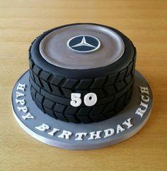 Mercedes wheel cake