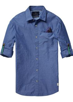 Buy Scotch & Soda Longsleeve Shirt with all-over Printed Fixed Pochet. Free UK Delivery available on all purchases at Dapper Street. Couture Outfits, Scotch Soda, Dapper, Latest Fashion Trends, Long Sleeve Shirts, Cool Outfits, Men Casual, Shirt Dress, Mens Tops