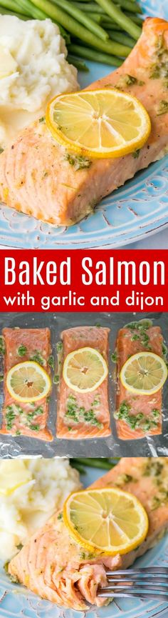 Our Favorite Baked Salmon Recipe - juicy, flaky and super delicious. A 5-Star recipe for baked salmon!! | natashaskitchen.com