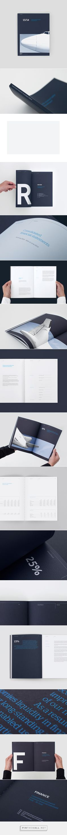 Design pornography clean and simple, pure beauty.  NAC - Annual Report on Behance