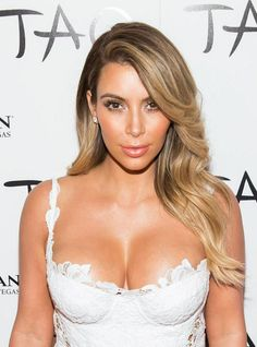 blonde Kim kardashian 2013- I want to try this on a client so bad!