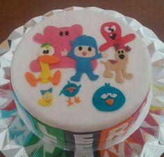 Tarta de Pocoyo y sus amigos, para el cumple de Valeria!!