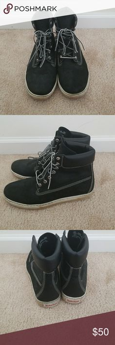 Mens Timberland Black leather boots Size 10 good condition only worn a couple of times Timberland Shoes Boots