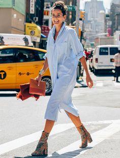 street style look chemise bota