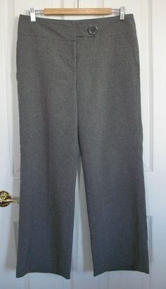 Women s Gray Dress Pants / Slacks --- Size 8