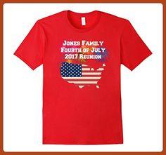 Mens Jones Family 4th of July Family Reunion Shirt 2XL Red - Holiday and seasonal shirts (*Partner-Link)