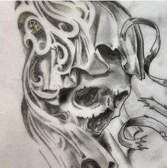 #skull #art #drawing #sketch #tattoo