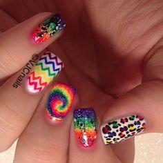 Instagram photo by vjcnails #nail #nails #nailsart  its so colorful!!