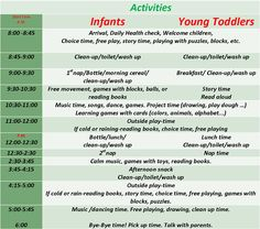 sample infant daily schedule - Google Search