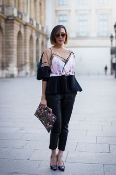 tres interesting volume situation #ChriselleLim. great bag. Paris. #Givenchy  #TheChriselleFactor