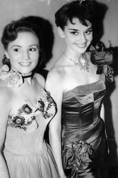 In 1950, aged 21, Audrey Hepburn was photographed at London's Ciros Club with the actress Jean Bayless.