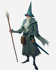 ArtStation - Wizards of The Lord of the Rings, Dan Pilla Dnd Wizard, Dnd Characters, Character Illustration, Character Inspiration, Character Portraits, Illustration Character Design, Animated Characters, Character Design Male, Fantasy Wizard