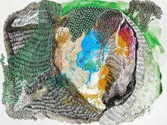 "Saatchi Art Artist Marijah Bac Cam; Drawing, ""Hole Under My Skin"" #art"