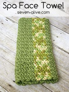 Free Crocheted Spa Face Towel Pattern. A perfect way to pamper yourself or someone you love.
