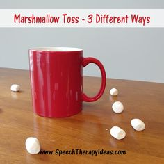 Marshmallow Toss Therapy Activity - 3 Different Ways Here are three ways to use mugs and marshmallows to reward your students' hard work in your speech therapy sessions! They are easy to set up and fun to play winter speech therapy activities. Speech Pathology, Speech Therapy Activities, Speech Language Pathology, Language Activities, Speech And Language, Speech Room, School Motivation, School Games, Third Way