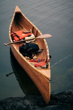 Nothing like a Canoe adventure. Wood Canoe, Canoe Boat, Canoe Camping, Bushcraft Camping, Canoe And Kayak, Campsite, Canoa Kayak, Wood Boats, Photos Of The Week
