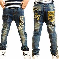 Haute qualité mode enfants jeans pour garçons, slim fit Coréenne pour enfants…