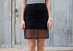DIY Mesh Pencil Skirt
