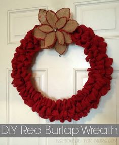 Pin and Share! Thanks!00000Hey there and a very happy Tuesday to you! Last week I finished a cute burlap Christmas wreath. The complete process took me about an hour to make and that was while I was just hanging out talking to my husband. I'm sharing the whole tutorial today at My Crafty Spot. I …