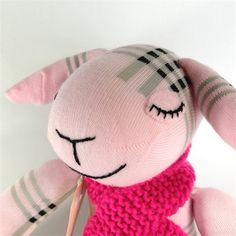 Sheryl Sheep, sock toy from lostsockshome   lostsockshome   madeit.com.au