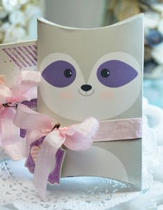 raccoon pillow box download from Stampin' Up!