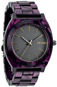 Nixon Watch Time Teller Acetate in Gunmetal Velvet