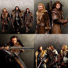 The line of Durin - Thorin, Fili and Kili