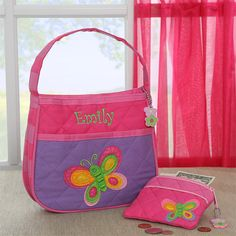 7563 - Butterfly Embroidered Purse