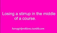 Loosing a stirrup
