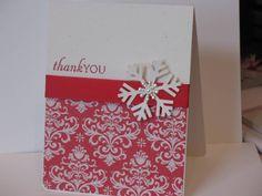 Christmas Thank You card