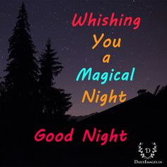 Whishing you a magical night...good night #goodnig #gn #quotes