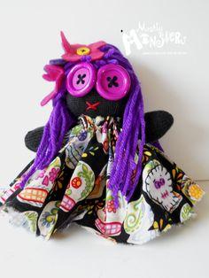ZOMBIE BABY Glove DollLollipop Sugar Skulls by MostlyMonstersCV, $8.95