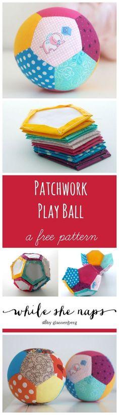 Cute patchwork ball!
