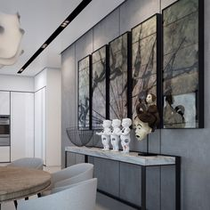 This elegant apartment is a visualization of a project to be completed in the W Boutique Tower, itself located in Tel Aviv,Israel. It was designed by Ando Studio, and makes use of a pale color palette to add a sense of space and airy elegance. Share your Thoughts