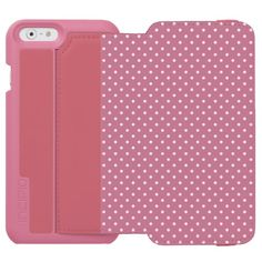 "Incipio Watson™ iPhone 6 Wallet Case - Perpetual Pink/White Polka Dot pattern. Ultimate beauty for her, ultimate comfort for your iPhone 6. Personalize your own iPhone case on Zazzle! Click the ""Customize"" button to insert your own artwork, design, or pictures to make a one of a kind case. Try adding text using great fonts and preview your design! This easy to customize iphone 6 case has no minimum order and is made after you order. Browse and read customer reviews below detail of product…"