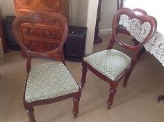 Beautiful Antique six mahogany ballon back dining chairs  | eBay
