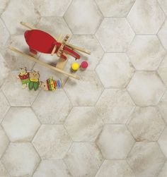 Castello by Faro resembles the look of natural stone flooring found in ancient castles throughout the world. With an aged, rustic appearance in a centuries-old hexagon pattern, it is the perfect complement to make your home a castle. Castello by Faro is a 13″x13″ glazed digital porcelain floor tile that is in stock in our Plymouth warehouse in five colors with coordinating bullnose. The color palette includes Almond, Beige, Cotto, Grigio and Petrolio.