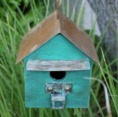 Rustic Birdhouse. $36.00, via Revisited Concepts on Etsy.