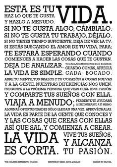 Holstee manifest (Spanish)