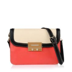 Charles and Keith color block purse.  Also available in a nice raffia and black.