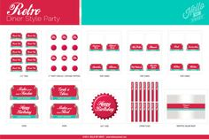 Retro Diner Party Soda Float crème glacée Social par HelloMySweet