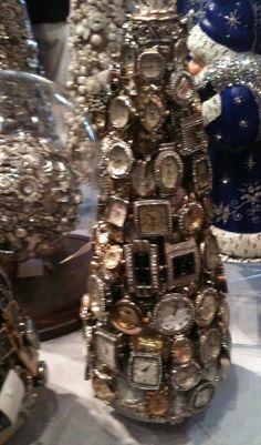 Vintage watch face christmas tree- Elderberry Street: Rogers Gardens Visit
