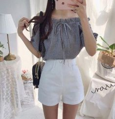 New Ideas Fashion Outfits Summer Asian - koreanische mode - Korean Girl Fashion, Korean Fashion Trends, Korea Fashion, Fashion Ideas, Trendy Fashion, Women's Fashion, Korea Summer Fashion, Korean Street Fashion Summer, Cute Asian Fashion