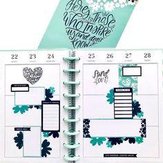 The Happy Planner® ( Mini Happy Planner, Cute Planner, Planner Layout, Goals Planner, Planner Pages, Planner Ideas, Weekly Planner, Printable Planner, Bullet Journal