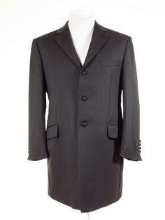 Ex-Hire Prince Edward Suits & Jackets - Slate Grey Herringbone Wool - All Sizes