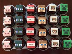 Minecraft cupcakes w